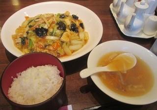 中国料理 青冥 堂島本店 - ライス・スープセットで¥700円