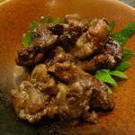 天然塩と七厘地鶏処 とりの極 - 背肝