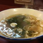 ラーメン天海 - 付属スープ