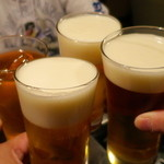 焼肉 グルマンズいとう - 友達4人で乾杯♪
