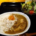 イーココチ - サラダ付きカレー800円