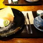 イーココチ - シフォンケーキと珈琲セットなら750円
