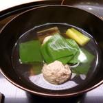 味 ふくしま - 椀物 鶉のお団子と九条ネギ