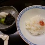 味 ふくしま - ゆりねご飯と香の物