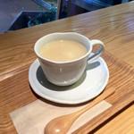 リマカフェ - ほっと葛湯(甘酒)とろりとほの甘く、結構好き☆あたたまります