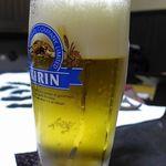 つきのほたる - 生ビールはキリン一番搾り