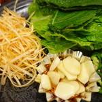 まだん - サムギョプサルの野菜