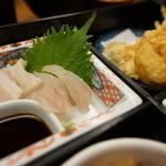 小良里いがらし - 刺身、天ぷら