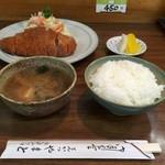 とんかつ やまと - ロースカツ定食(750円)