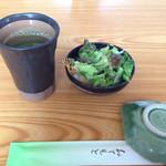 緑鮨 - ランチのサラダ