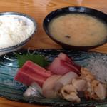 緑鮨 - 刺身定食ランチ  千円