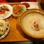 34079279 - おすすめ定食(海鮮中華粥)