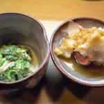 竹はる - 和え物、干し鮭白子おろし和え