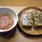 竹はる - 塩辛、フグ煮凝り