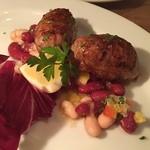 イタリア食堂&バル KIKUCHIYA - 自家製鴨のソーセージ、オレンジ風味。美味しい!