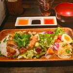 34088003 - 鶏飯(揚げ鶏)