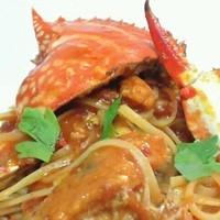 オステリア・アニマート - 渡り蟹のリングイネ  ピリ辛トマトソース