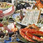 大漁奉市 - 料理写真:旬の素材を使ったコース料理!ご予約受付中!
