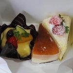 河端屋 - 料理写真:ケーキ3種