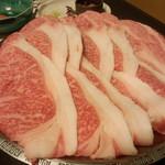 34095080 - 迫力のすき焼き肉