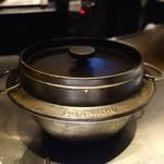 アトリエ森本ゼックス - 釜で炊いたご飯が出てきます。