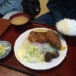 太田食堂 - ミックスフライ定食