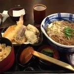 そじ坊 - 牡蠣天そば定食(2015/1)