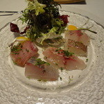 サルーチェ - 白身魚のカルパッチョ