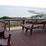 カフェくるくま - テラス席からの風景
