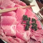 しゃぶテキ亭 - 料理写真:イベリコ豚のしゃぶしゃぶ 二人前