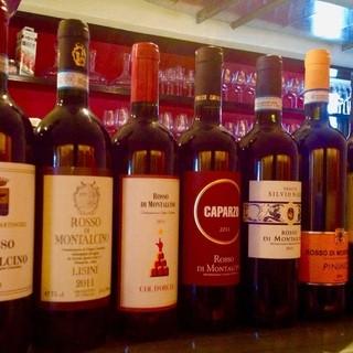 グラスワインも豊富です