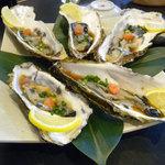 うまい鮨勘 - コース料理の1品目_生牡蠣
