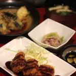 和菜遊彩 叶 - KANAランチ(ロースカツ、白身魚と茄子)