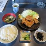 彦兵衛 - 地鶏の唐揚げ定食