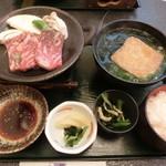 海鮮料理 きとら - 淡路牛焼肉とうどんのセット