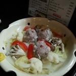 酒処皓太 - レンコンシュウマイと温野菜