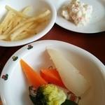 ピソリーノ - わが子たちにはフライドポテトなど野菜を♪
