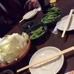 34119611 - つきだし、キャベツ、枝豆