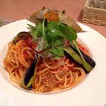 ファルファッレ - カニのトマトスパゲッティ