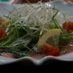 浜善 - 地魚生ハムサラダ 800円