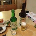 韓国家庭料理 コマ  - ジョウンデーとキリンビール
