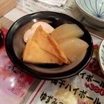熊本牧場直営 石黒商店 - サービスでいただいた長崎あご出汁おでん