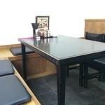 自家製麺 製麺王 - テーブル席が多いから、荷物などあった時は、便利ですね