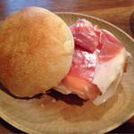 34125200 - プチパンのサンドイッチ¥360