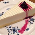 珈琲店トップ - レアチーズケーキのアップ