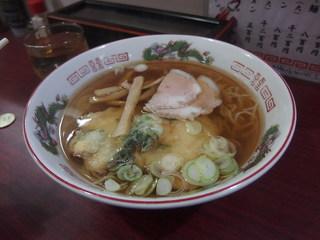 つるやラーメン店 - 天ぷらラーメン500円