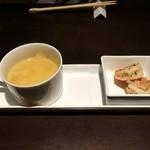 lamer - 相方のBセットのスープと前菜