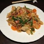 lamer - ベーコンと色どり野菜のポモドーロ