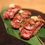 ハンバーグファクトリー - 黒毛和牛ヒレあぶり寿司