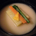懐石料理 花壇 - お椀(2014/12)